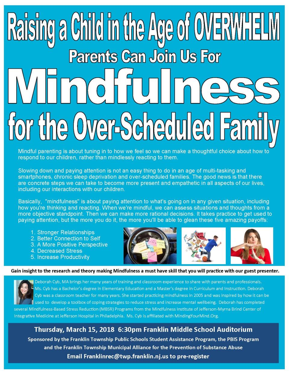 Mindfulness workshop at FMS 3.15.18 for parents