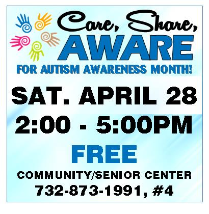 Care,Share, Aware Event April 28 2018 2pm to 5pm Free for autism awareness month