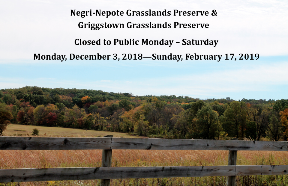 Grassland Preserve Closed