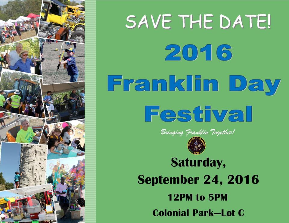 FranklindaySave the date