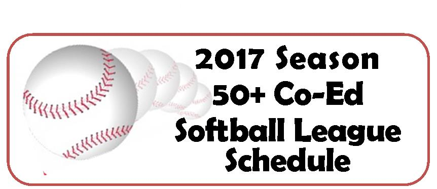 50+ Softball League Schedule Web Pic