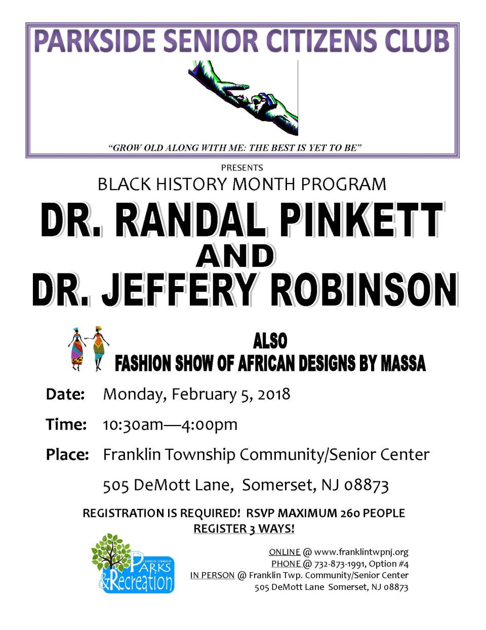 Dr. Pinkett & Dr. Robinson event