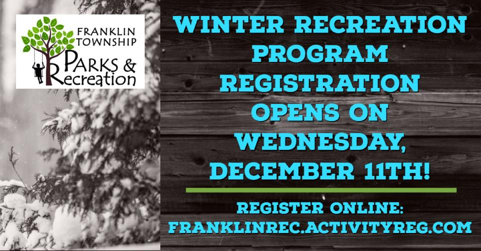 Winter Registration Opens Ad