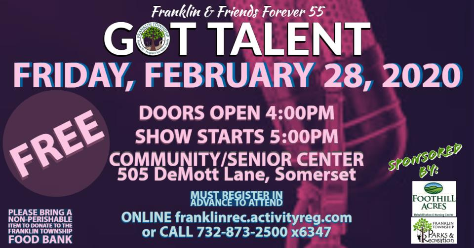 Forever 55 Got Talent! Show Ad